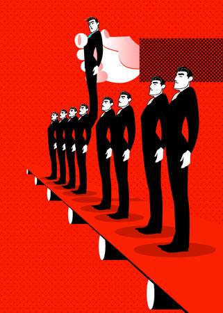Elegir trabajador, ilustración del concepto de reclutamiento. Foto de archivo - 98589604