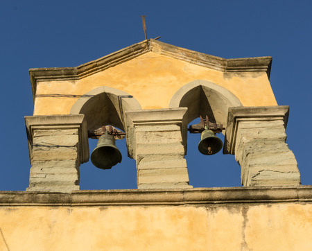country church: Bells in the bell tower of a small country church
