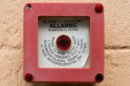 Alarm button to operate in case of fire photo