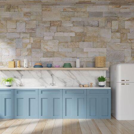 kitchen interior concept .3d render