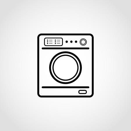 Washing machine Icon, vector illustration on isolated white background Stock Illustratie