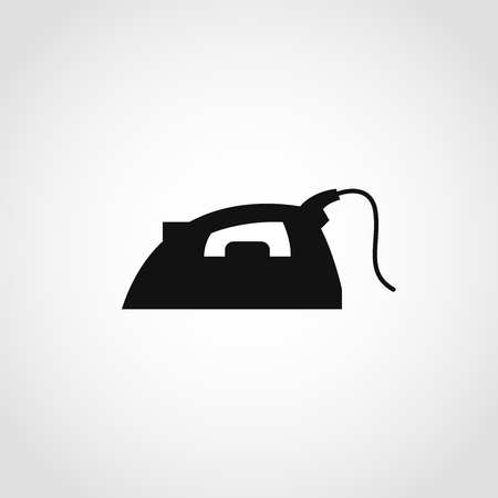 Steam iron icon, vector illustration on isolated white background