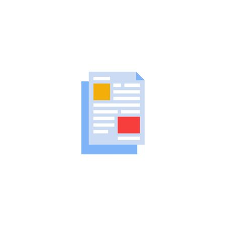 Paperwork icon. Trendy flat style isolated on white background. Symbol for the design of your website, interface. Vector illustration 일러스트