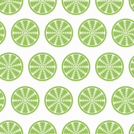 Lime slices seamless pattern for your backgrounds for websites, banners, packaging. Fresh organic juicy lime