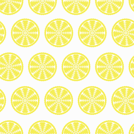 lemon slices seamless pattern for your backgrounds for websites, banners, packaging. Fresh organic juicy lemon