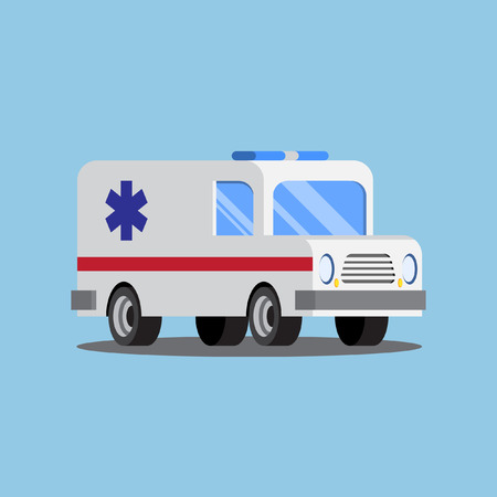 ambulance car cartoon style