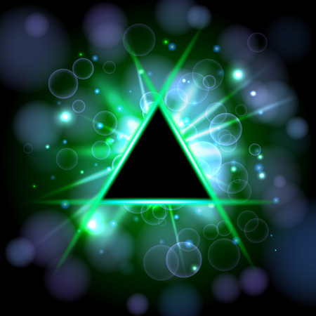 Vector triangle banner. Made for your design. Abstract background. 일러스트
