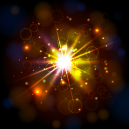 Star Light Background. Vector for your design