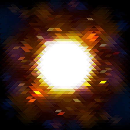 Vector illustration. Hot mosaic explosion banner. Made for you design.