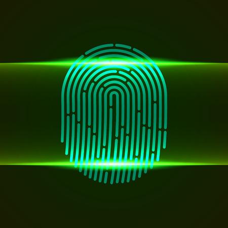 Fingerprint double scanner green color designed for your app, ux project.