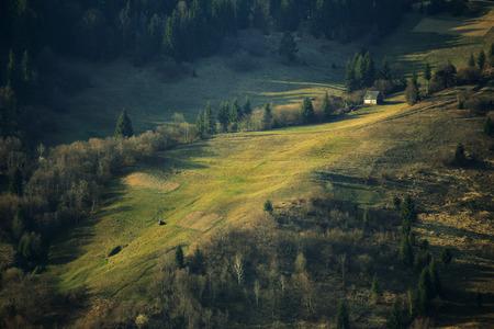 hillsides: Spring hillsides Stock Photo