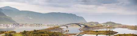 bridge footing: Lofoten bridge construction