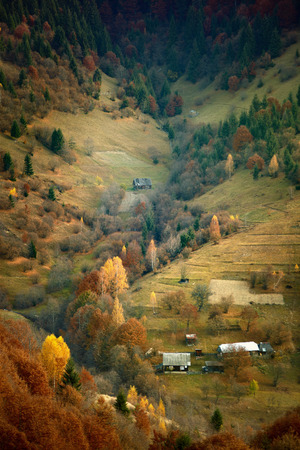 hillsides: autumn carpathian hillsides Stock Photo