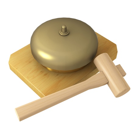 gong with hammer