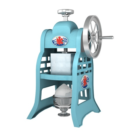 The machine of the shaved ice Stock Photo