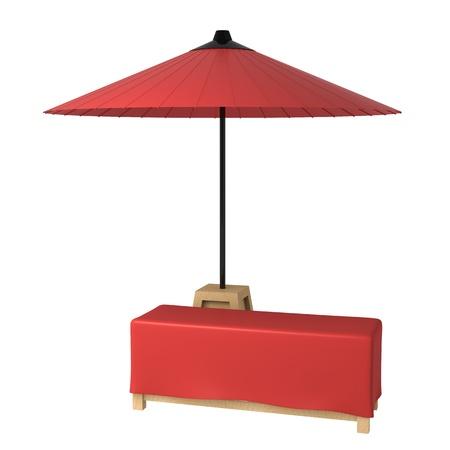 retro: red umbrella