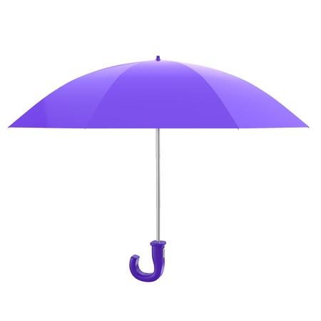 Purple Umbrella Stock Photo