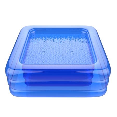 青い子供のインフレータブル プール