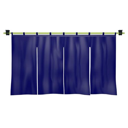 shop curtain Stock Photo