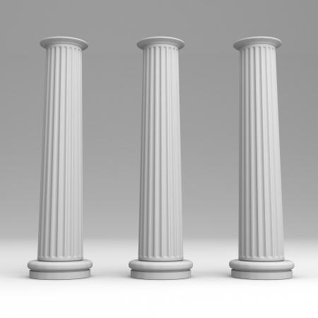 shrine: The pillar of a shrine 3D render