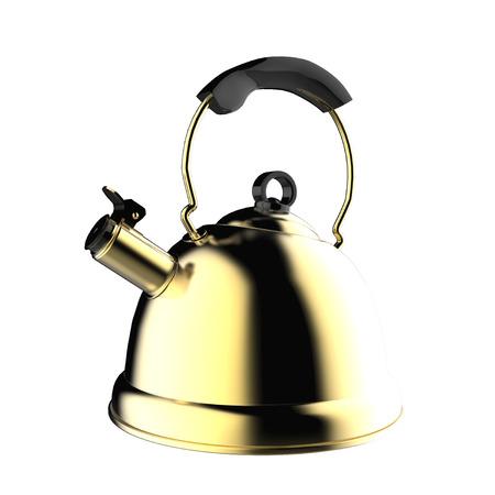 kettle isolated on white background photo