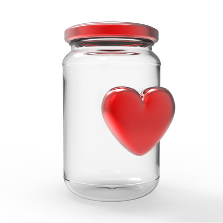 receptacle: A bottle with the heart