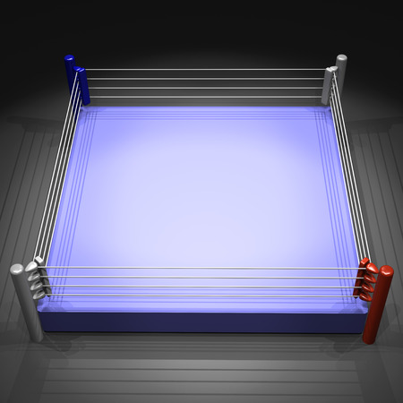 boxing ring on white background 写真素材