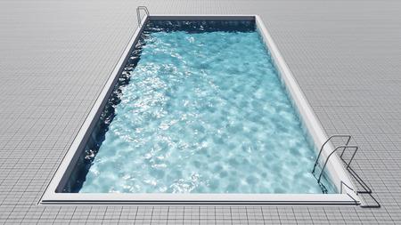 poolside: Swimming Pool Stock Photo