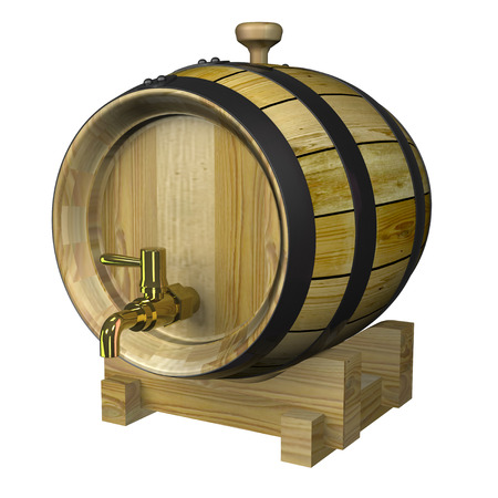 wood barrel photo