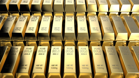 Gold bars Stok Fotoğraf