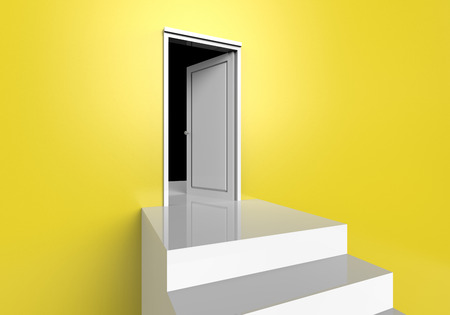 The door made from 3dcg