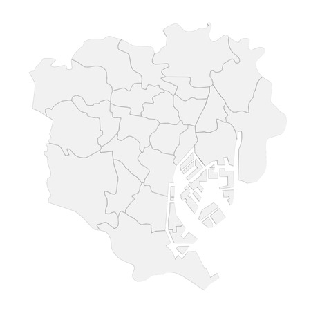 東京地図 写真素材