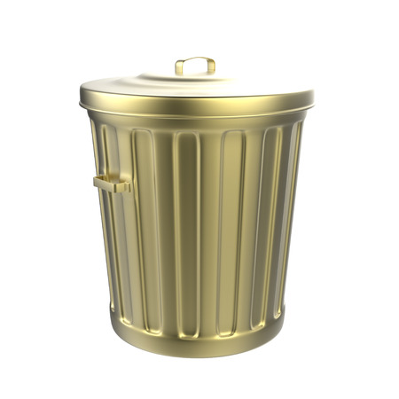 흰색 배경에 쓰레기통의 3D 렌더링 스톡 콘텐츠 - 41916050