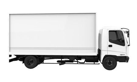transported: 3d rendering of a cargo truck