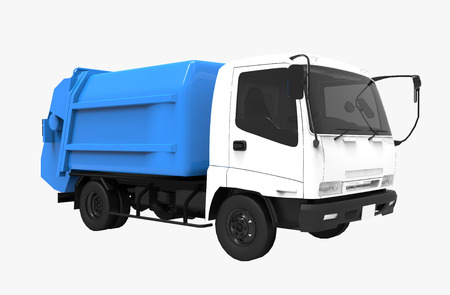 3d rendering of a cargo truck