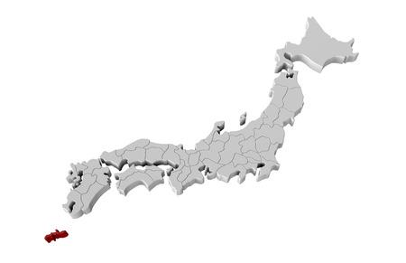 日本地図 写真素材