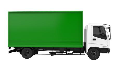 貨物車の 3 D レンダリング