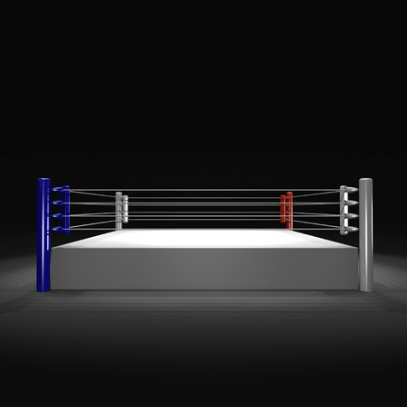 boxing ring on white background Stock Photo