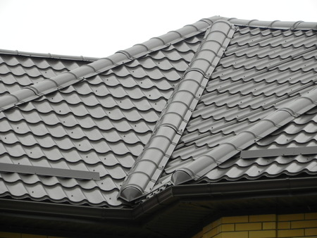 metal structure: Tile roof metal tiles