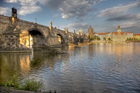 Charles Bridge in Prague Standard-Bild
