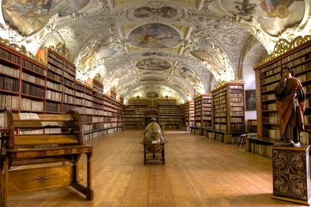 Prague, Czech Republic, May 31, 2012, Strahov Theological Library.