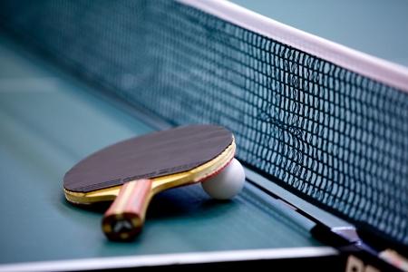 pingpong: tenis de mesa Foto de archivo