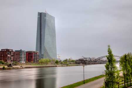 Frankfurt am Main, Deutschland, den 25. April, 2015 - Europäische Zentralbank (EZB, EZB)