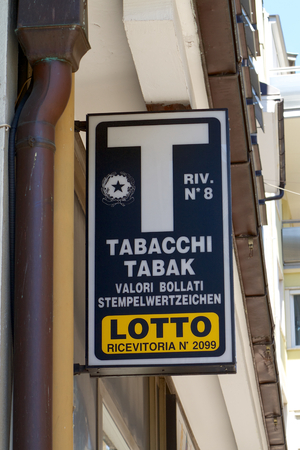 Official Italian Tobacco and Lottery Shop Sign