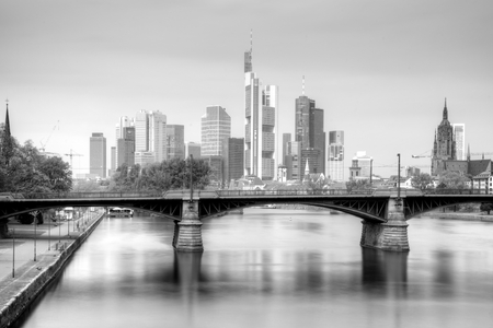 Frankfurt am Main Skyline in Black and White