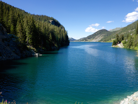 Marmorera Lake in Switzerland
