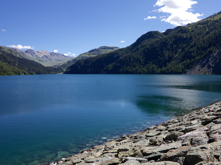 Marmorera Reservoir in Switzerland