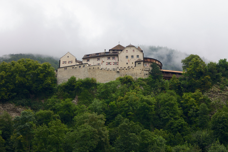 Front View of the Vaduz Castle in Liechtenstein Editorial