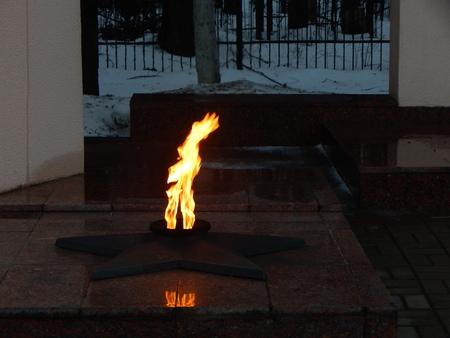 eternal: eternal flame Stock Photo