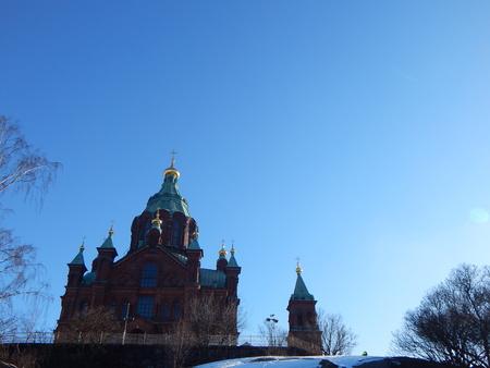 helsinki: Uspensky Cathedral in Helsinki Stock Photo